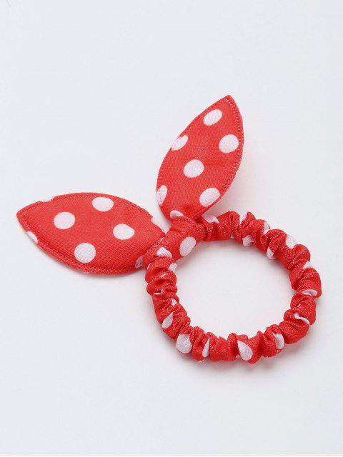Bowknot Polka Dot Stertching Hair Band - Rojo  Mobile