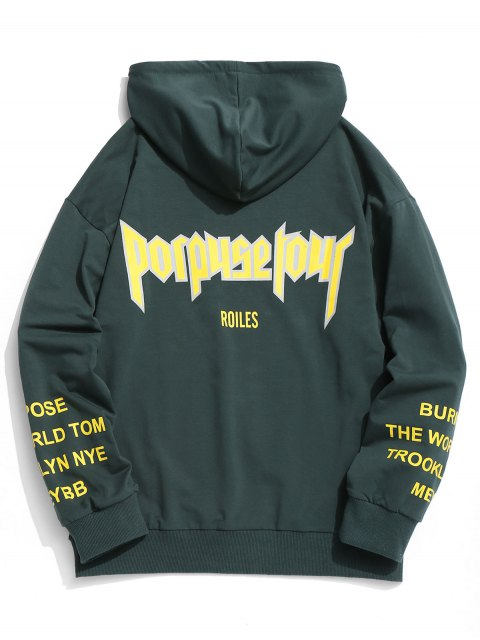 outfits Recurity Graphic Pullover Hoodie - BLACKISH GREEN L Mobile