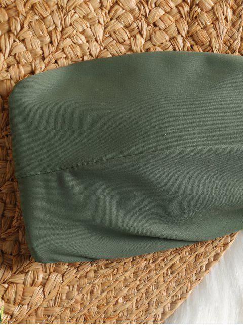 Traje De Baño Bandeau Acolchado - Verde S Mobile