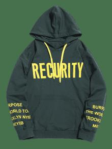 Pullover Graphic Xl Recurity Negruzco Verde Hoodie 1zwx45q