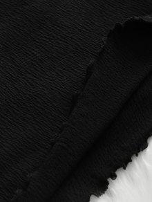 L Lechuga Con Vestido Ajustado Descubiertos Negro De Hombros O0Tfw7q