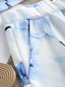 Shorts M Bandeau Blanco Floral Set Y Top De q1wxtSHSp