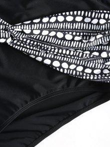 De Talla Dise Con Negro Giro Conjunto o Blanco Grande Y De Bikini Punteado Y 5xl zqwgaf