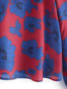 Hombros Con Floral Y Estampado S Floral Blusa Descubiertos Cami Tpzwxn5qE