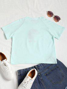 M Raglan Crop Claro Camiseta Crop Rose Verde wZSTqHzxx