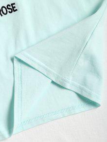 Rose Claro Crop Camiseta Crop Verde M Raglan 8F1wqzO