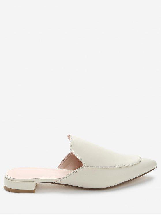 Sapatos de calças de salto baixo com ponta de dedo - Damasco 39