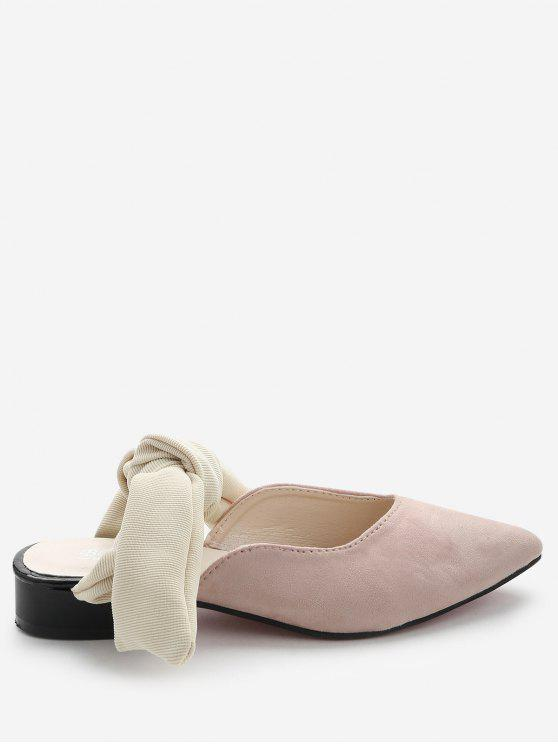 Loafers Backless de salto baixo - Rosa 37