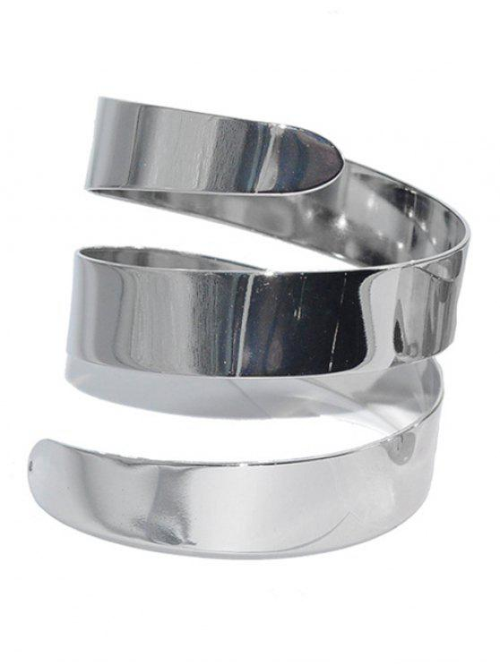 latest Alloy Cuff Bracelet - SILVER