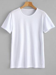 Waterproof Eyelet Sport T Shirt - White 2xl