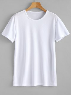 Waterproof Eyelet Sport T Shirt - White Xl