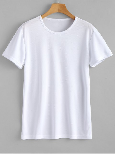 sale Waterproof Eyelet Sport T Shirt - WHITE L Mobile
