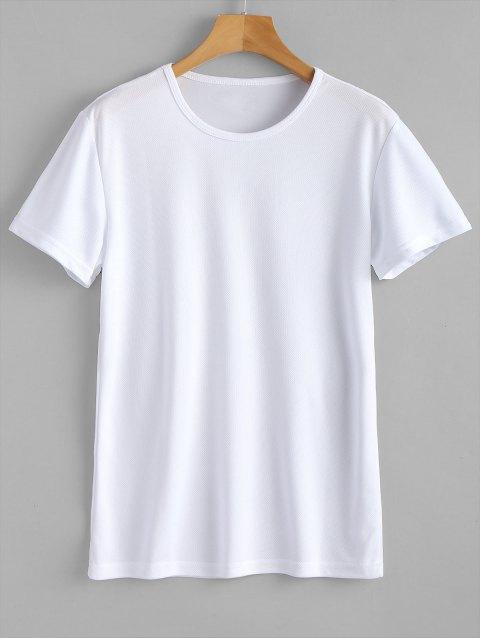 T-shirt imperméable de sport d'oeillet - Blanc XL Mobile