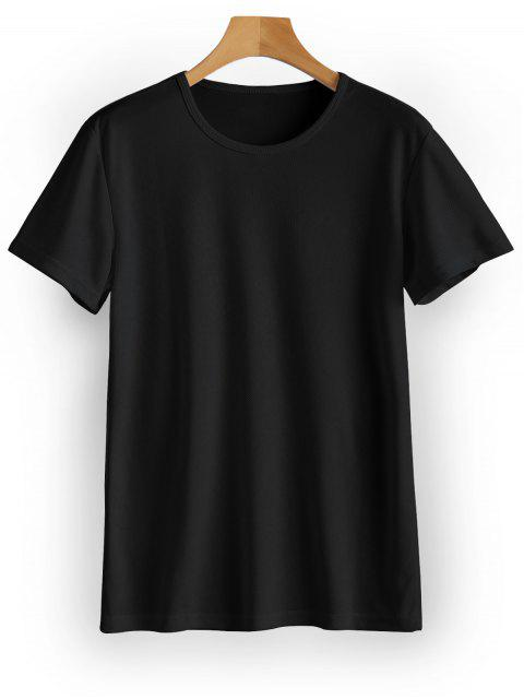 Wasserdichtes Ösen Sport T-Shirt - Schwarz L Mobile