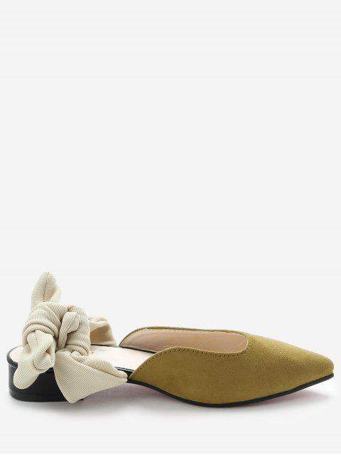 shop Low Heel Backless Loafers - YELLOW 35 Mobile