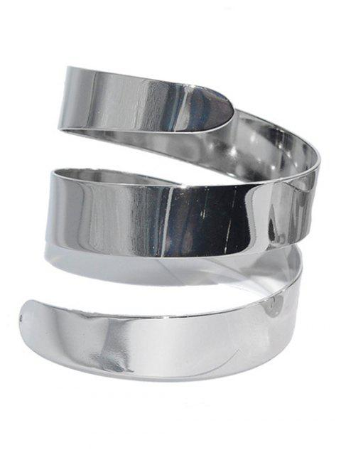 latest Alloy Cuff Bracelet - SILVER  Mobile