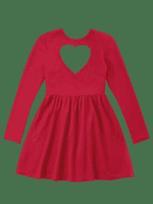 Corte Rojo Skater Brillante S Vestido Con De 243;n Coraz Ea6xOYqYw