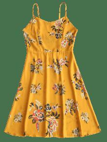 De Ahumado Floral Estampado S Vestido Floral Cami 0wq5nRTS