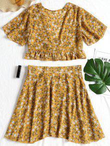 b0e4c7cdeb98 Conjunto de falda y top de chifón floral