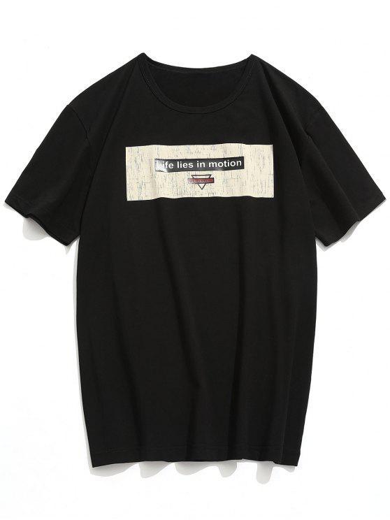 sale Graphic Printed Tee - BLACK M