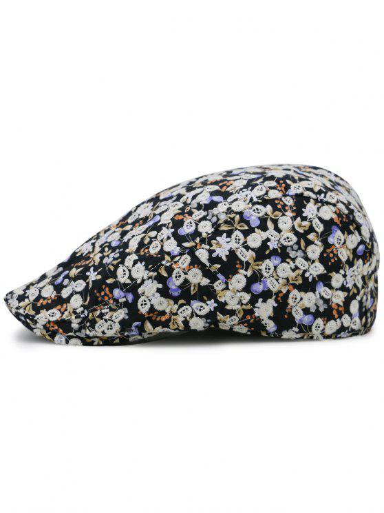 91bea181322 12% OFF  2019 Flourishing Floral Pattern Embellished Newsboy Cap In ...