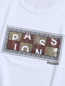 Camiseta Estampada 2xl Graphic De Corta Passion Blanco Manga wUxwrqPd6