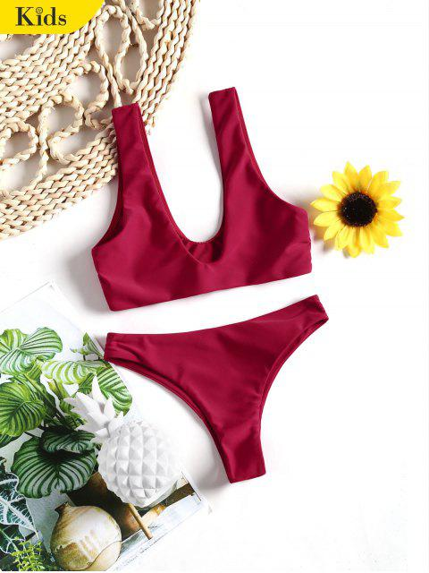 Niedliches Kinder Bikini Set - Rot 8T Mobile