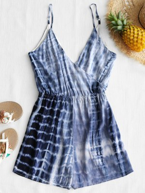 Cami Tie Dyed Surplice Cover Up Romper