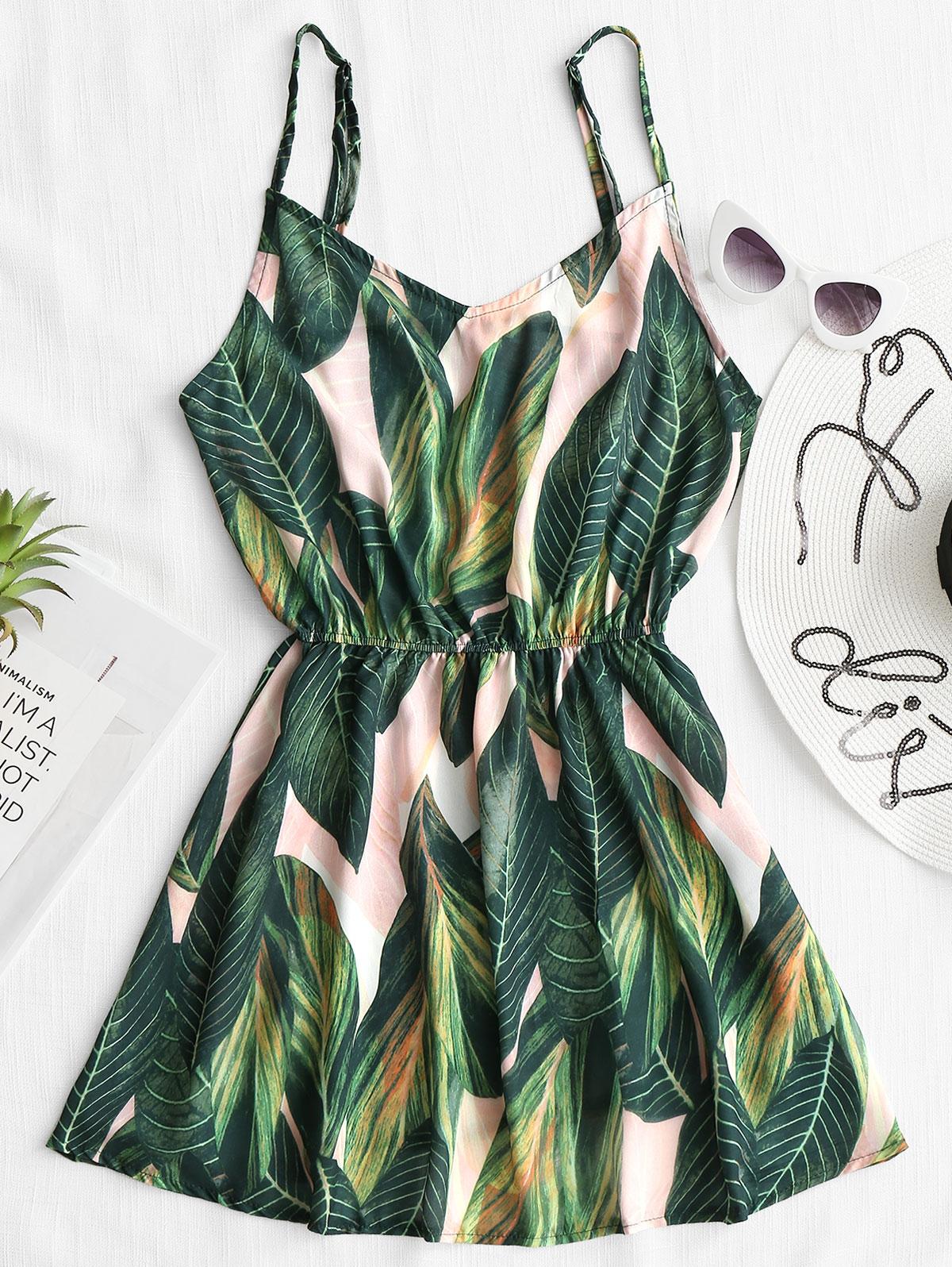 Tropical Leaf Print Ca