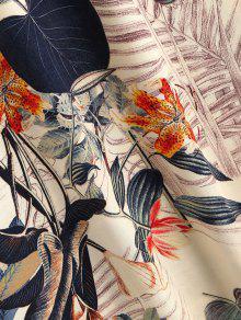 Bowknot L De Beige Vestido Floral Las Correas Mini HwvXUSqH