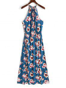 فستان بنمط لف من الخلف - الأزهار Xl