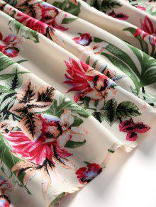 Minifalda Estampado Floral En Con Beige S Hombro El rrpU1qAW