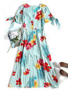 Surplice Floral S Verde Suri Vestido 4PwZxFnqF