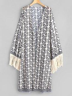 Kimono De Plage à Glands à Manches Longues