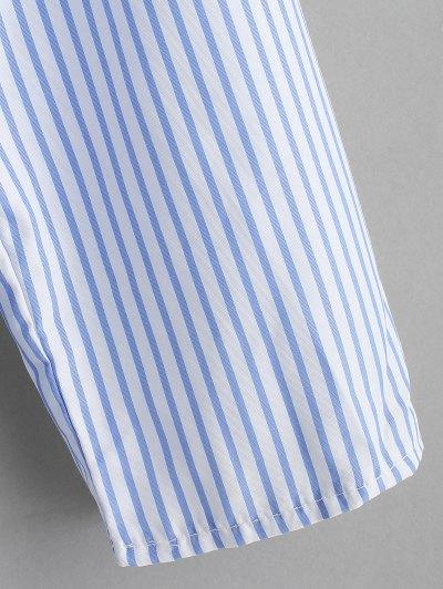 ZAFUL / Stripes One Shoulder Ruffles Top