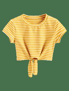 Zaful yellow tshirt stripe