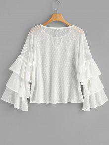 Blanco Texturizada Transparente S Blusa Texturizada Blanco Transparente S Blusa Blusa f8ASZ