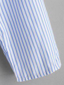 Claro S One Top Shoulder Azul Ruffles Stripes wqBXSTn