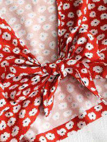 250;sculo Rojo De L Floral Bajo Recortado Top Corte Min EI0qawH