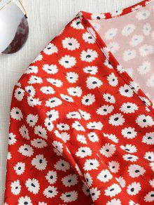 Floral Recortado 250;sculo Top Min Corte Rojo Bajo L De tpv1qw1d