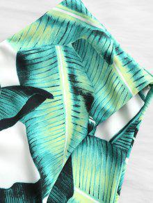 Estampado De Talla Hojas Bikini Grande Alto Con De Verde De Talle 3xl Y Conjunto nYqA1Fw1