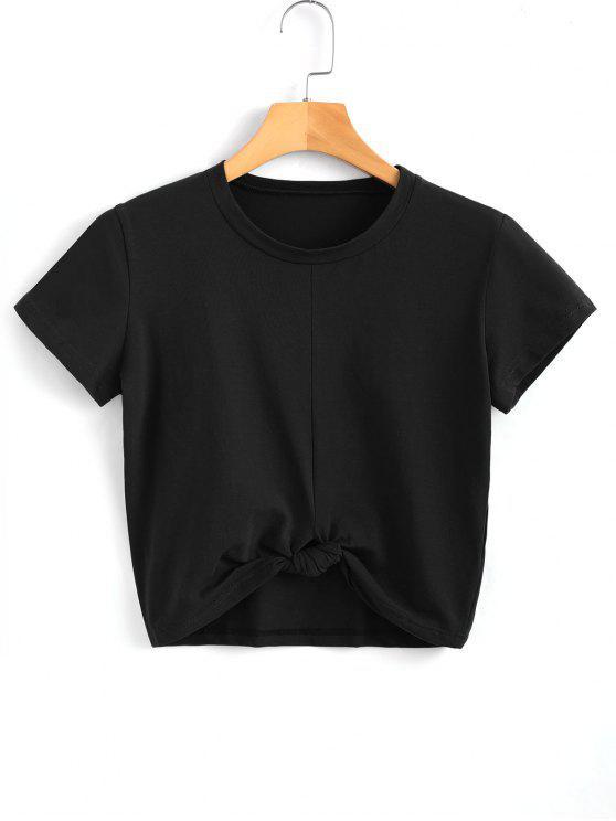buy Cute Twist Tied Top - BLACK S