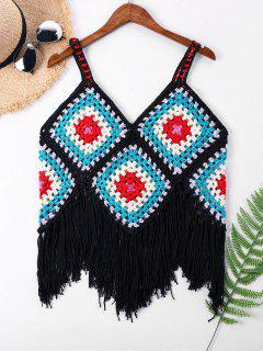 Cuello Sin Mangas Crochet Cover Up Top