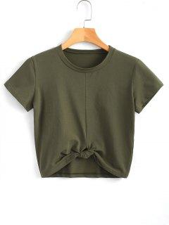 Cute Twist Tied Top - Army Green M
