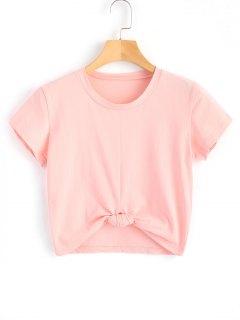 Cute Twist Tied Top - Pink S