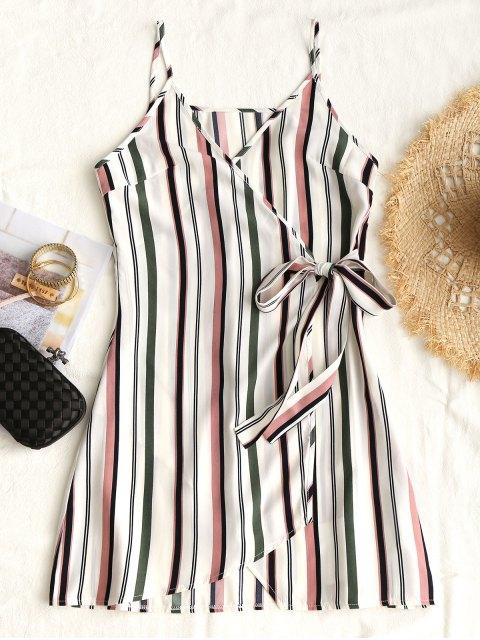 Vestido a rayas con lazo y lazo en la cintura - Raya L Mobile