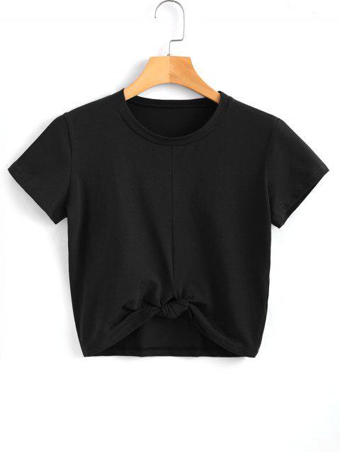 Linda torcedura atado superior - Negro S Mobile