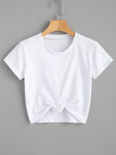Cute Twist Tied Top - White S