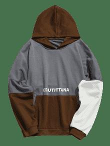 3xl Color Sudadera Con Azulado Capucha Graphic Block Gris Szwqw01