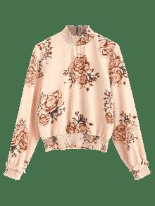 Panel Shirred Floral Blouse S Floral dUYUSZwq